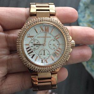 Rose gold Michael Kors watch